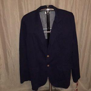 NWT Men's Merona Navy Blue Blazer, XL